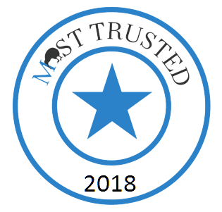 Proud to be a 2018 Most Trusted Category Winner